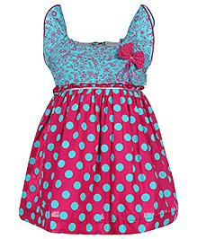 Babyhug Flutter Sleeve Frock - Polka Dot Print