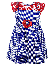Babyhug Short Sleeve Frock - Checks Print