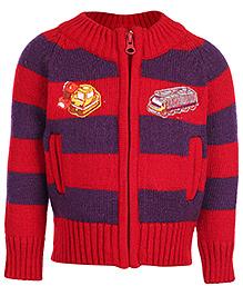 Babyhug Full Sleeve Sweater - Vehicle Patch
