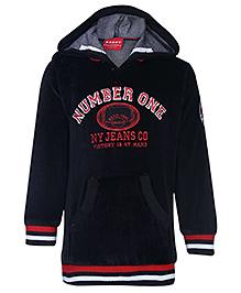 Noddy Hooded Sweatshirt Full Sleeves - Number One Embroidery