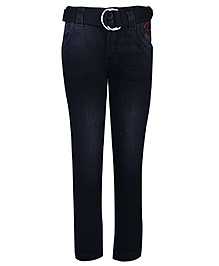 Noddy Jeans With Belt - N Y Original Embroidery