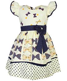 Babyhug Short Sleeve Frock - Bow Print