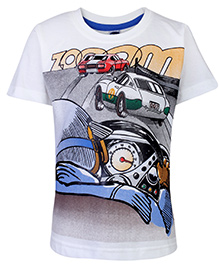 Teddy Half Sleeves T-Shirt - Vehicle Print