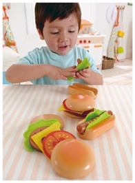 Hape Hamburgers And Hotdogs Wooden Toy