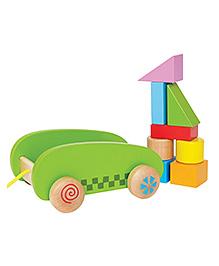 Hape Wooden Mini Block And Roll
