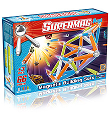 Plastwood Supermag Maxi Magnetic Building Sets - 66 pieces