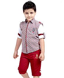 Active Kids Wear Three Piece Set - Check Pattern