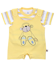 ToffyHouse Dungaree With T-Shirt Yellow - Monkey Patch