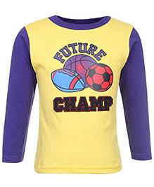 Babyhug Full Sleeves T-Shirt - Future Champ Print