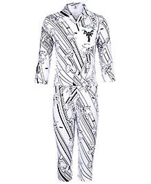 Cucumber Full Sleeve Night Suit - Batman Print