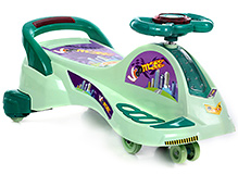 Toyzone Magic Musical Twister Car City Manual Ride On Light Green - Upto 30 Kg - 3 Years+