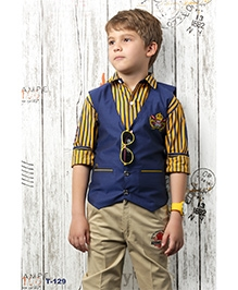 Active Kids Wear 3 Piece Party Wear Set - Boat Club Embroidery
