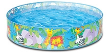 Intex Happy Animals Clearview Snapset Pool