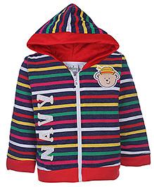 Babyhug Hooded Sweatshirt Full Sleeve - Stripes