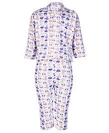 Babyhug Full Sleeve Night Suit - All Over Print