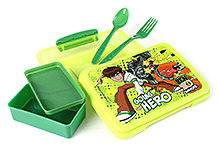 Ben 10 Lunch Box - Green And Yellow