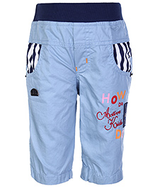 Active Kids Wear Capri Elasticated Waist - Embroidery