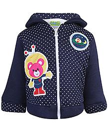 Babyhug Hooded Sweatshirt Full Sleeves - Dot Prints