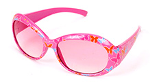 Hopscotch Kids Sunglasses Pink - Butterfly Prints