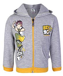 Cucumber Hooded Sweatshirt Full Sleeve - Ben 10 Print