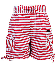 Active Kids Wear Shorts With Drawstring - Stripe Prints
