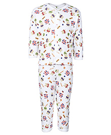 Cucumber Full Sleeve Night Suit - Sweet Baby Love Print