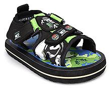 Ben 10 Sandals Dual Velcro Strap - Black