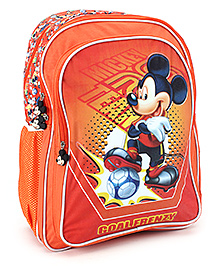 Mickey Mouse And Friends School Bag Football Print - 18 Inches