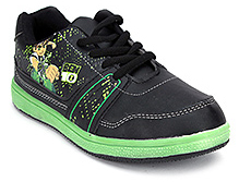 Ben 10 Sports Shoes Lace Up - Green And Black