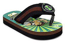 Ben 10 Flip Flop Printed - Green And Brown