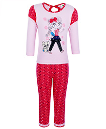 Cucumber Doctor Sleeve Top And Leggings - Polka Dots