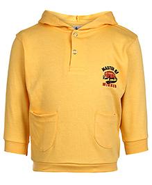 Cucumber Hooded Sweatshirt Full Sleeves - Rugby Ball Print