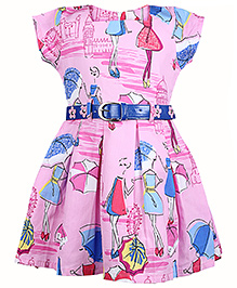 Babyhug Frock Cap Sleeves - Umbrella Print