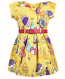 Babyhug Frock Cap Sleeves - Umbrella Print
