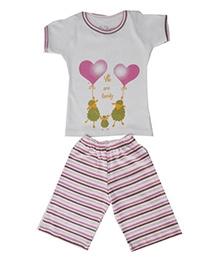 Earth Conscious Short Sleeve Night Suit - Stripes