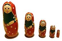 Desi Toys Wooden Matryoshka Gudiya