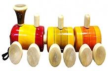 Desi Toys Wooden Jhuk Jhuk Gadi Pull Along Toy