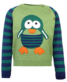 Babyhug Full Sleeves Sweater - Penguin Embroidery