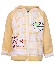 Babyhug Hooded Sweatshirt Full Sleeves - Beetle Patch