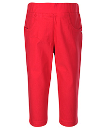 Tiny Girl Pull Up Pant - Solid Colour