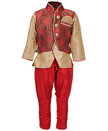 Babyhug Full Sleeves Indo With Breeches And Jacket