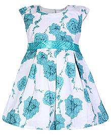 Babyhug Cap Sleeve Frock - Floral Print
