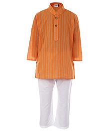 Babyhug Ethnic Kurta And Pajama Set - Strip Print