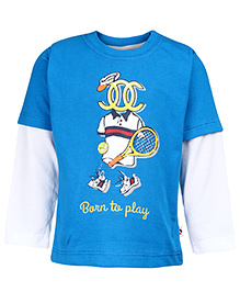 Ollypop Doctor Sleeve T-Shirt - Born To Play Print