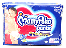 Mamy Poko Extra Absorb Pant Style Diaper Extra Large - 46 Pieces