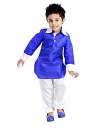 DotnDitto Pathani Kurta Salwar Set - Blue