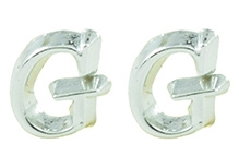Angel Glitter Silver Lining Earrings - G For Girl