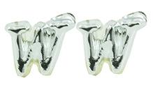 Angel Glitter Silver Lining Earrings - W For Wolfie