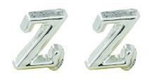 Angel Glitter Silver Lining Earrings - Z For Zebra