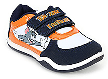 Tom And Jerry Sport Shoes - Navy Blue and Orange